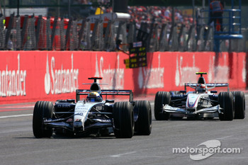 Nico Rosberg, WilliamsF1 Team, Robert Kubica,  BMW Sauber F1 Team