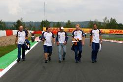 Giancarlo Fisichella, Renault F1 Team, Spa Francorchamps Trackwalk