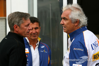 Flavio Briatore, Renault F1 Team, Team Chief, Managing Director, Daniel Morelli, manager of Robert Kubica, BMW Sauber F1 Team