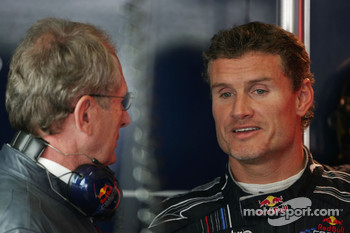 Helmut Marko, Red Bull Racing, Red Bull Advisor and David Coulthard, Red Bull Racing