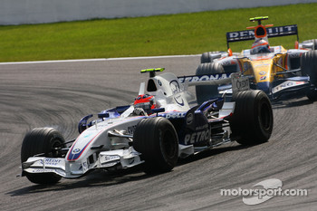Robert Kubica,  BMW Sauber F1 Team , Heikki Kovalainen, Renault F1 Team