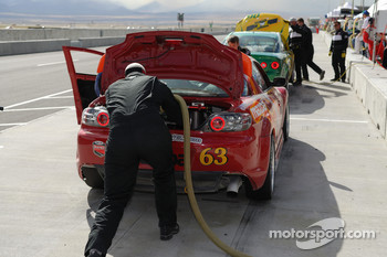 Pitstop for #63 Roar Racing Mazda RX-8: Andrew Carbonell, Rob Whitener III