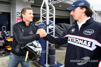 David Coulthard, Red Bull Racing and Robert Kubica,  BMW Sauber F1 Team