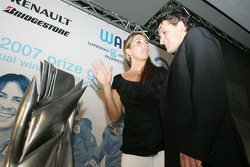 Nani Rodriguez, with Gonzalo Rodriguez special award winner Giorgio Pantano