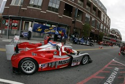 Petit Preview Party at Atlantic Station: Team Cytosport team members prepare the Lola B06/14 AER for the pitstop demo