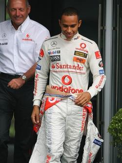 Ron Dennis, McLaren, Team Principal, Chairman and Lewis Hamilton, McLaren Mercedes