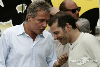 Jacques Villeneuve with his manager Craig Pollock