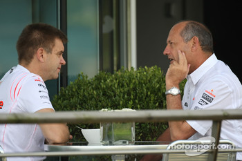 (right) Ron Dennis, McLaren, Team Principal, Chairman