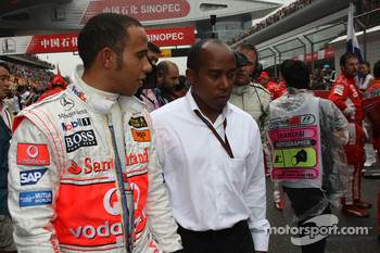 Lewis Hamilton, McLaren Mercedes with his father Anthony Hamilton, Father of Lewis Hamilton