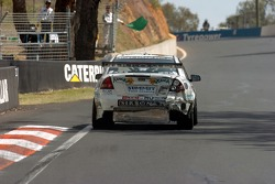 Fabian Coulthard on his way back to the pits