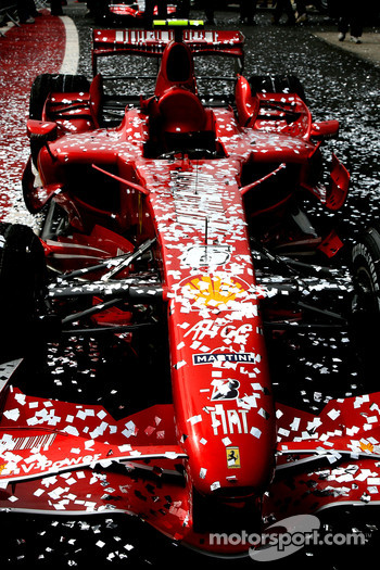 Scuderia Ferrari, F2007, covered in glitter