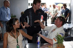 David Coulthard, Red Bull Racing and his fiancee Karen Minier and Christian Horner, Red Bull Racing, Sporting Director