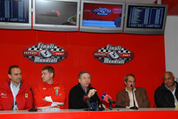 Press conference: Amato Ferrari, Antonello Coletta, Jean Todt, Amedeo Felisa and Giuseppe Risi