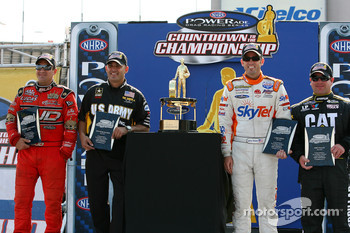 Final four group shot: Brandon Bernstein, Tony Schumacher, Larry Dixon and Rod Fuller