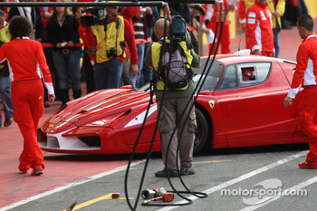 Michael Schumacher with the Ferrari FXX Prototype