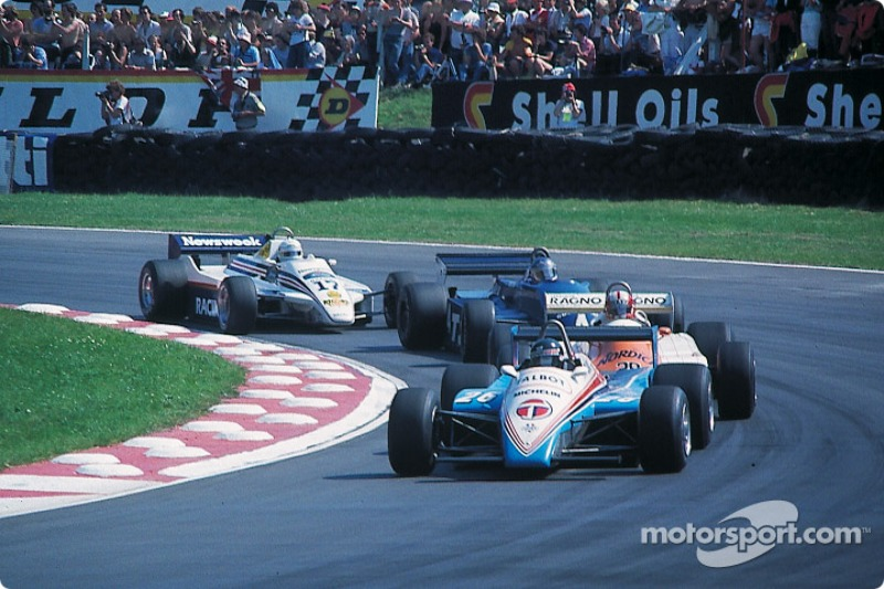 Jacques Laffite leads Marc Surer, Brian Henton and Jochen Mass