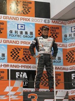 Kazuya Oshima on the podium