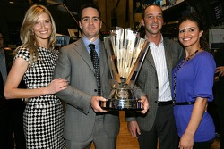 Jimmie Johnson the 2007 NASCAR NEXTEL Cup Series Champion tours the New York Stock Exchange with his wife Chandra Johnson and his crew chief Chad Knaus and his girlfriend Bruna Oliveira