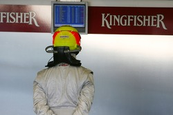 Ralf Schumacher, Force India F1 Team, looks at the times