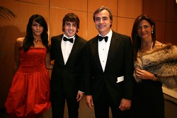 Fernando Alonso and his wife, and rally driver Carlos Sainz and his wife