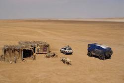 Team de Rooy in Tunisia: bivouac