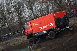 Team de Rooy pre-prologue in Valkenswaard: Hugo Duisters, Yvo Geusens and Michel Huisman