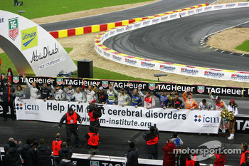The drivers give their support to the ICM charity