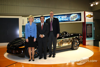 From left: Indiana Lt. Gov. Becky Skillman, Indianapolis Motor Speedway President and Chief Operating Officer Joie Chitwood, Chevrolet General Manager Ed Peper