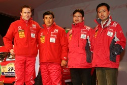 Team Dessoude presentation in Saint Lo: Zhou Yong and Sylvain Poncet