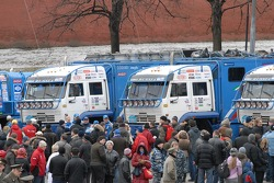 Kamaz-Master ceremonial start on the Red Square in Moscow: overall ambiance