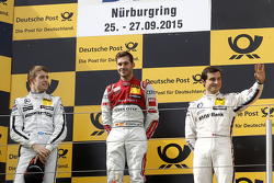 Podium: winner Miguel Molina, Audi Sport Team Abt, second place Paul di Resta, HWA AG Mercedes AMG, third place Bruno Spengler, BMW Team MTEK