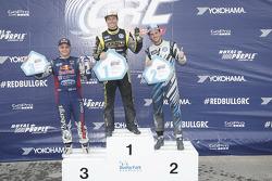Winner Tanner Foust, Andretti Autosport Volkswagen, second place Joni Wiman, Olsbergs MSE Ford, third place Scott Speed, Andretti Autosport Volkswagen