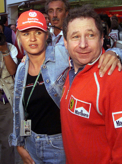 Corinna Schumacher and Jean Todt