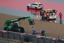 Carlos Sainz Jr., Scuderia Toro Rosso STR10 crash