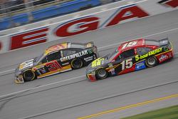 Ryan Newman, Richard Childress Racing Chevrolet and Clint Bower, Michael Waltrip Racing Toyota