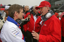 Pascal Vasselon, Toyota Racing technical director with Dr. Wolfgang Ullrich, Head of Audi Sport