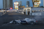 Graham Rahal tries the BMW Formula One car
