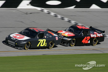 Jeremy Mayfield and Juan Pablo Montoya