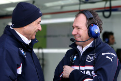 Peter Sauber, BMW Sauber F1 Team, Team Advisor and Willy Rampf, BMW-Sauber, Technical Director