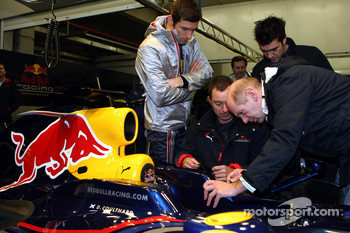 Adrian Newey, Kenny Handkammer and Mark Webber