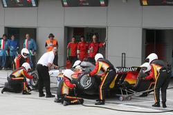 Christian Vietoris, driver of A1 Team Germany, pitstop