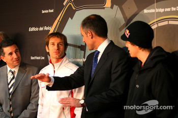 Jarno Trulli, Toyota F1 Team during the press conference to present the new street circuit in Valencia