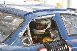 Todd Bodine in pit garage