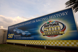 Signage for the 50th running of the Daytona 500