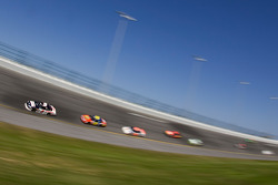 Dale Earnhardt Jr. leads the pack into turn 4