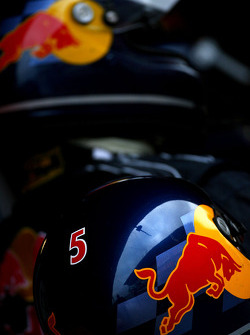 Red Bull racing mechanic's helmet