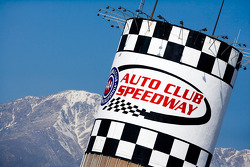 Blue sky on the Auto Club Speedway of Southern California