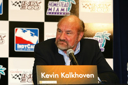 Kevin Kalkhoven takes questions from the media