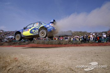 Chris Atkinson and Stéphane Prévot, Subaru World Rally Team, Subaru Impreza WRC2007