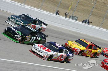 David Ragan, Denny Hamlin and Dale Earnhardt Jr.